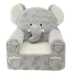 Sweet Seats Adorable Elephant Children's Chair, Standard Size, Machine Washable Removable Cover, ...   Walmart (US)