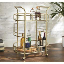 Better Homes & Gardens Fitzgerald 2-Tier Bar Cart, Gold | Walmart (US)