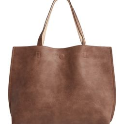 Reversible Faux Leather Tote & Wristlet | Nordstrom