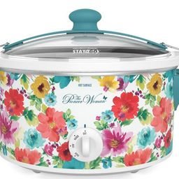 The Pioneer Woman Breezy Blossom 6 Quart Portable Slow Cooker, 33062 | Walmart (US)