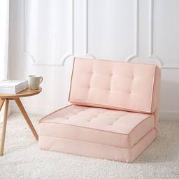 Your Zone Canvas Flip Chair, Blush | Walmart (US)