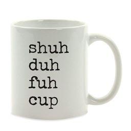 Funny Coffee Mug Gift, Typewriter Style, Shuh Duh Fuh Cup, 1-Pack | Walmart (US)