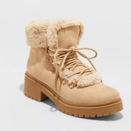 Women's Betsy Faux Fur Hiking Boots - A New Day™   Target