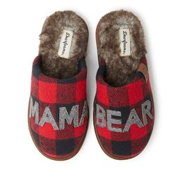 "Women's Dearfoams ""Mama Bear"" Buffalo Check Scuff Slippers | Kohl's"