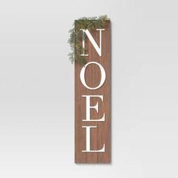 """10"""" x 40"""" Noel Wood Sign Panels Brown - Threshold™   Target"""
