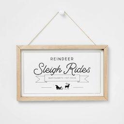 Shadow Box Hanging Sign White & Natural - Wondershop™ | Target