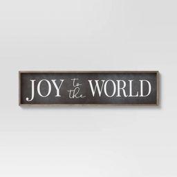 "10"" x 40"" Joy to the World Wooden Wall Decor Sign White/Black - Threshold™ | Target"