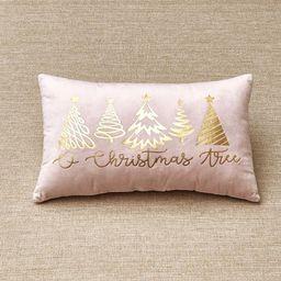 Lakeside O Christmas Tree Decorative Accent Lumbar Pillow with Holiday Motif | Target