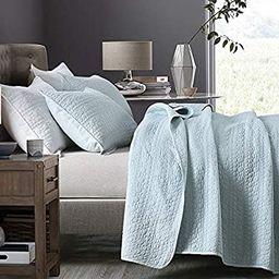 HORIMOTE HOME Quilt Set King Size Aqua Blue, Classic Geometric Spots Stitched Pattern, Pre-Washed...   Amazon (US)