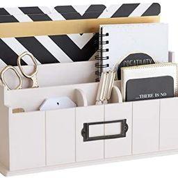 Blu Monaco Light Pink Wooden Mail Organizer - 3 Tier Light Blush Pink Desk Organizer - Rustic Cou...   Amazon (US)