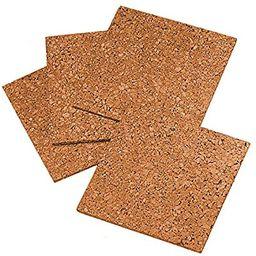 "Quartet Cork Tiles, Cork Board, 12"" x 12"", Corkboard, Wall Bulletin Boards, Natural, 4 Pack (102)   Amazon (US)"