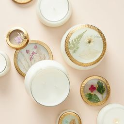 Holiday Floral Press Candle   Anthropologie (US)