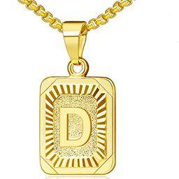 JSJOY Gold Initial Necklaces for Women Gold Letter Necklaces 26 Capital A-Z, Letter Pendant Neckl... | Amazon (US)