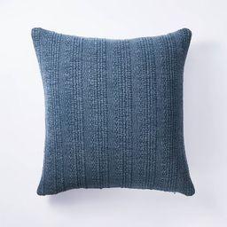 Oversized Woven Textured Cotton Square Throw Pillow Navy - Threshold™ designed w/ Studio McGee | Target
