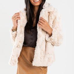 Celina Faux Fur Overcoat   Francesca's Collections