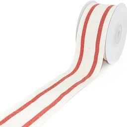 CT CRAFT LLC Natural Cotton Ribbon with Stripe 1-1/2 inch (38mm) x 10 Yards. Natural Ribbon Decor... | Amazon (US)