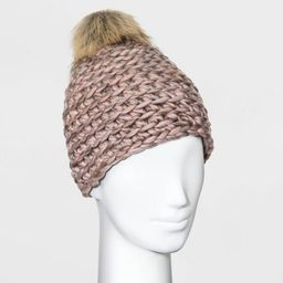 Women's Hand Knit Pom Beanie - Universal Thread™ One Size | Target