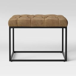 Trubeck Tufted Metal Base Ottoman Faux Leather - Project 62™ | Target