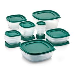 Rubbermaid 30pc Food Storage Container Set with Easy Find Lids Forest Green   Target