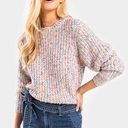 Alexis Rainbow Lurex Sweater   Francesca's Collections