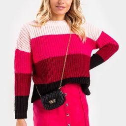 Ash Color Block Sweater   Francesca's Collections