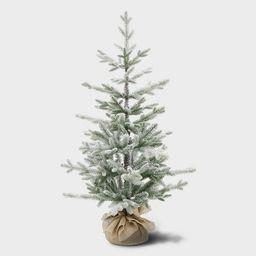 3.5ft Unlit Potted Flocked Balsam Fir Artificial Tree - Wondershop™   Target