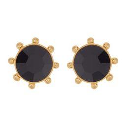 gold-tone bezel set crystal stud earrings   Nordstrom Rack
