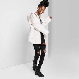 Women's Faux Fur Hooded Coat - Wild Fable™   Target