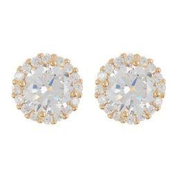 14K Gold Vermeil Swarovski Crystal Halo Stud Earrings   Nordstrom Rack