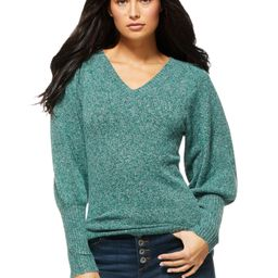 Sofia Jeans by Sofia Vergara Women's V-Neck Sweater with Blouson Sleeves   Walmart (US)