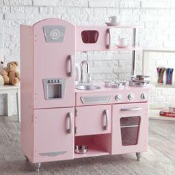 KidKraft Vintage Wooden Play Kitchen in Pink | Walmart (US)