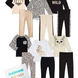 Garanimals Toddler Girls Cheetah Print Kid-Pack Gift Box, 12-Piece Mix and Match | Walmart (US)