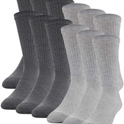 Gildan Men's Half Cushion Terry Foot Bed Crew Socks, 12-Pack   Walmart (US)