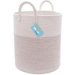 "Organihaus Cotton Rope Basket | 15"""" X 18"""" Tall Blanket Storage With Long Handles Decorative Hamper | Etsy (US)"