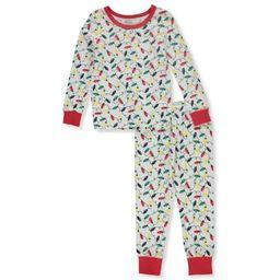 Sleepimini Baby Boys' Holiday Lights 2-Piece Pajama Set - white, 24 months | Walmart (US)