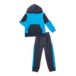 Cheetah Toddler Boy Colorblock Hoodie Sweatshirt & Taped Jogger Pants Outfit Set, 2-Piece (2T-5T) | Walmart (US)