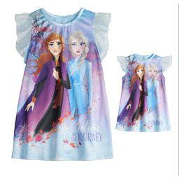 Frozen 2 Toddler Girls Matching Doll & Me Nightgown Pajamas, 2pc Gift Set (2T-5T) | Walmart (US)