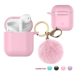 Njjex Case Skin for Airpods 1 & 2 & Pro, Silicone Charging Case Cute Cover with Golden Keychain +... | Walmart (US)