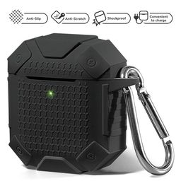 AirPods Case [Front LED Visible] GMYLE Silicone Protective Heavy Duty Armor Earbuds Case Cover Sk...   Walmart (US)