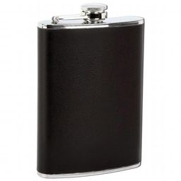 8 oz. Stainless Steel Flask with Black Wrap   Walmart (US)