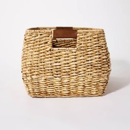 """Decorative Rectangle Storage Basket with Cut Off Handles 12"""" x 17"""" Brown - Threshold™ designed ...   Target"""