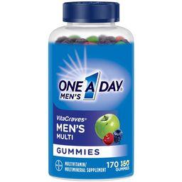 One A Day Men's VitaCraves Gummies, Multivitamins for Men, 170 Count   Walmart (US)