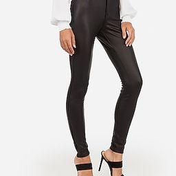 High Waisted Vegan Leather Five Pocket Leggings | Express