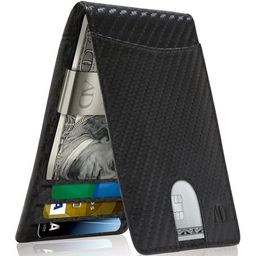Slim Bifold Wallets For Men - Money Clip Wallet RFID Blocking Front Pocket Leather Thin Minimalis...   Walmart (US)