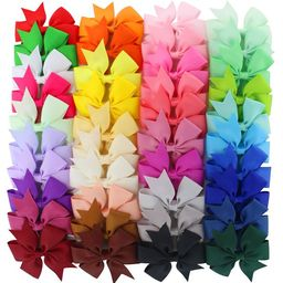 40Pcs Multicolor Ribbon Bow Hair Clip Pure Color Hairpin Hair Accessories For Baby Girls Kids Tee...   Walmart (US)