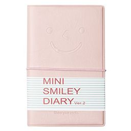 Smiley Mini Diary Leather Notebook Journal Lined & Plain Paper - Various Colours (Pastel Pink) | Walmart (US)