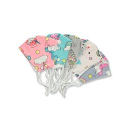 5-Pack Kids Unicorn Fashionable 100% Cotton Face Masks with Adjustable Ear Loops   Walmart (US)
