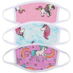 3 Pcs Kids Size Unicorn Print Variety Pack Face Mask for Children Reusable Comfortable Washable M...   Walmart (US)