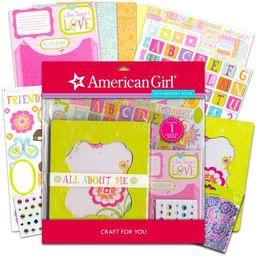 American Girl Crafts Mini Memory Book Scrapbook Diary Journal Kit ~ 266 Pcs with Bonus Glitter St...   Walmart (US)