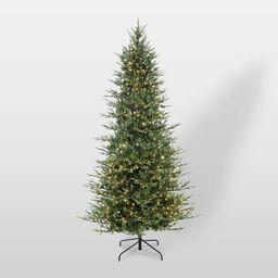9ft Pre-Lit Full Berkshire Fir Artificial Christmas Tree - Puleo   Target